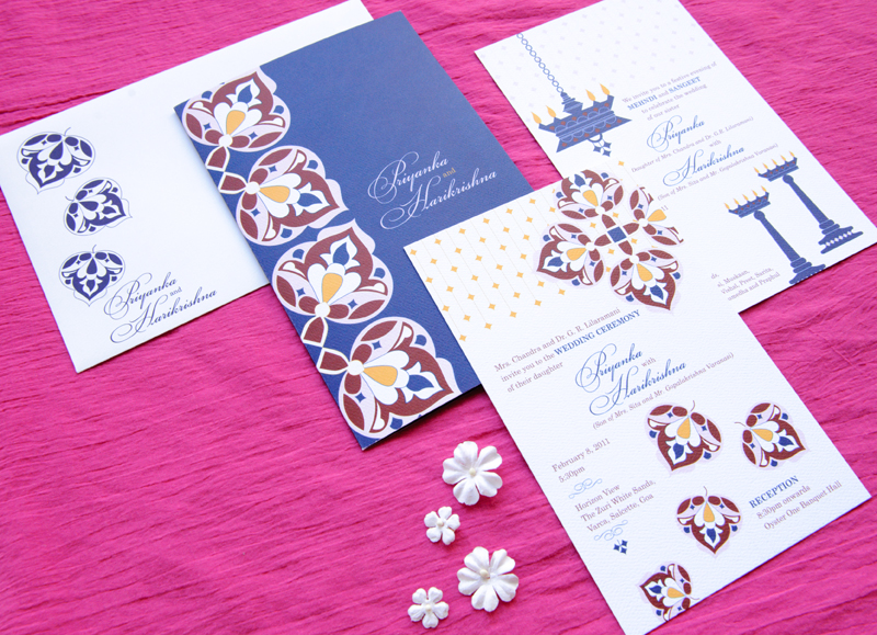 Included in each stationery suite are wedding invitations inserts