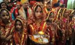 Navratri celebrations in Katra, north of Jammu, India