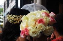 umbrella & flowers