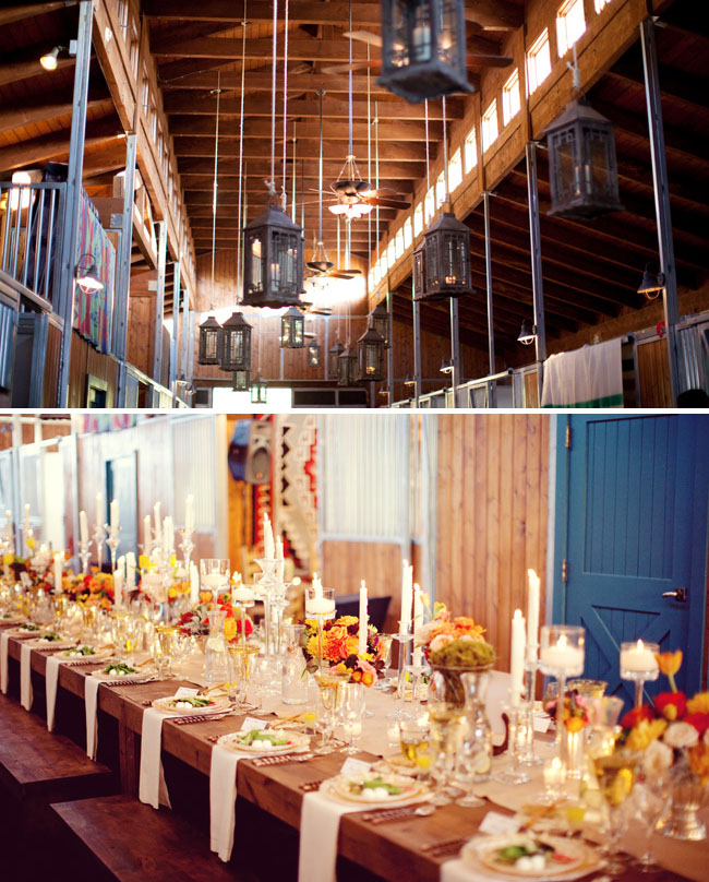 Rustic Summer Barn Weddings: Horse Wedding Decorations